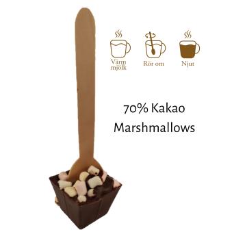 Pralinhuset - Drickchoklad - 70% Kakao - Marshmallows -