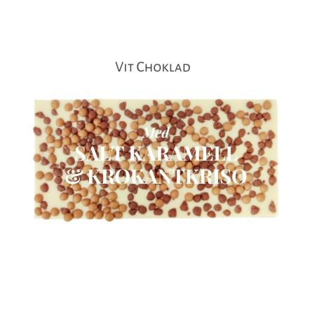 Pralinhuset - Vit Choklad - Salt Karamell & Krokantkrisp -