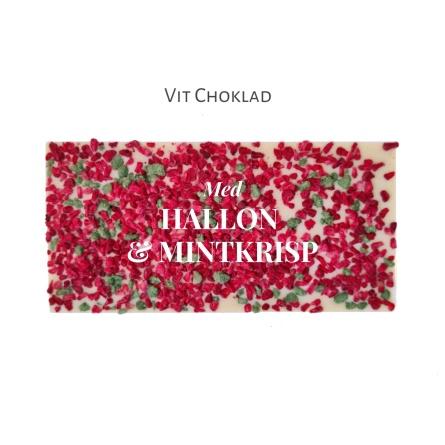 Pralinhuset - Vit Choklad - Hallon & Mintkrisp - Vanlig