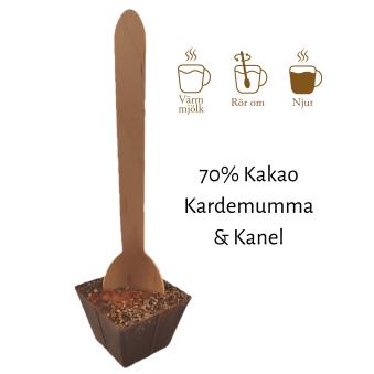 Pralinhuset - Drickchoklad - 70% Kakao - Kanel & Kardemumma -