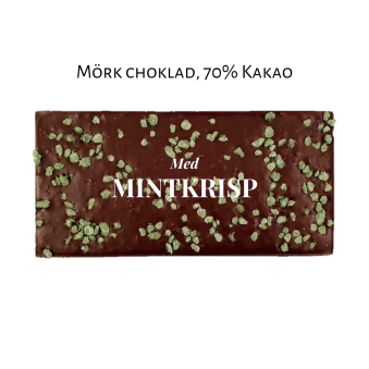 Pralinhuset - 70% Kakao - Mintkrisp - Mörk Choklad