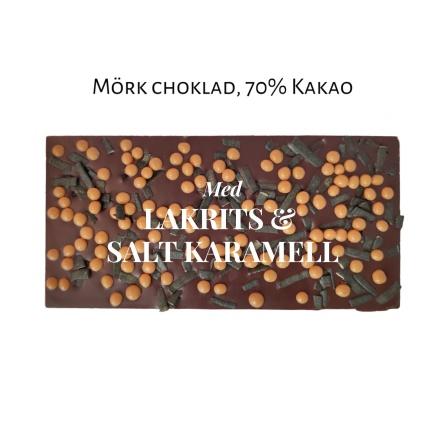 Pralinhuset - 70% Kakao - Lakrits & Salt Karamell -
