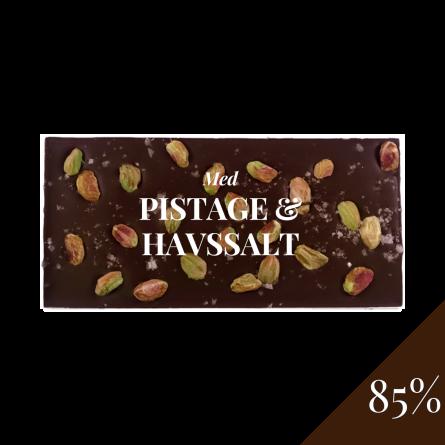 Pralinhuset - 85% Kakao - Pistage & Havssalt -