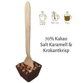 Pralinhuset - Drickchoklad - 70% Kakao - Salt Karamell & Krokantkrisp