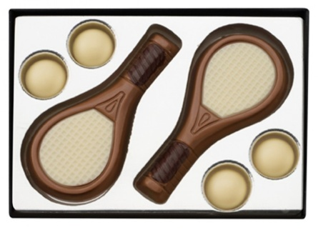 Tennisrackets - Ljus Choklad