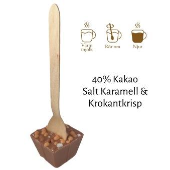 Pralinhuset - Drickchoklad - 40% Kakao - Salt Karamell & Krokantkrisp -