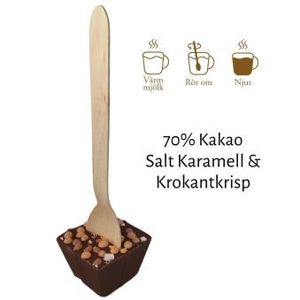 Pralinhuset - Drickchoklad - 70% Kakao - Salt Karamell & Krokantkrisp -