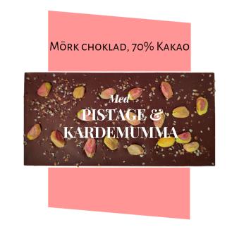 Pralinhuset - 70% Kakao - Pistage & Kardemumma -