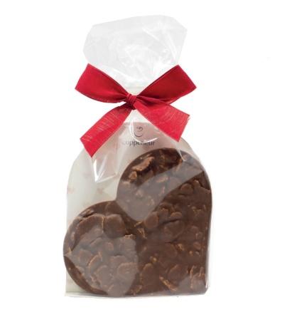Chokladhjärt med Corn Flakes - 100 gram -