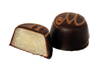 Pralin & Tryffel - Marsipan i Mörk Choklad -