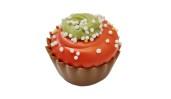 Julpralin - Jul Cup Cake - Hallonganache & hallonbitar