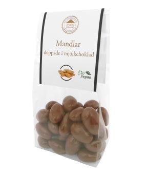 Pralinhuset - Mandlar Doppade i Ljus Choklad -