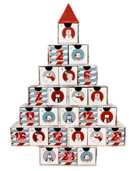 Tom Julkalender - Julgran Med Figurer -