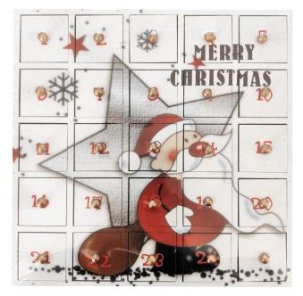 Tom Julkalender - Merry Christmas - Träkalender -