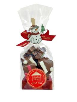 Julpåse - Chokladbitar - Julfigur - 130 gram -