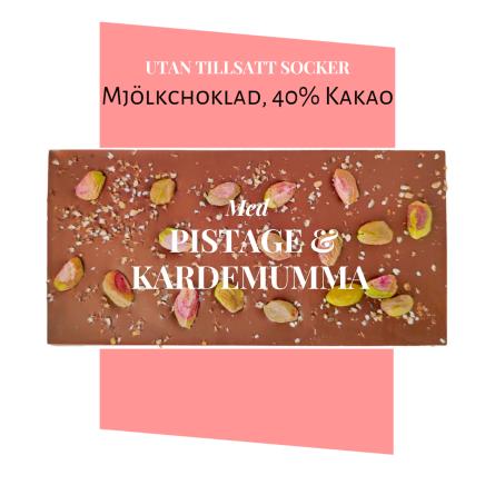 Pralinhuset - 40% Kakao - Pistage & Kardemumma -