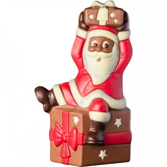 Chokladfigur - Tomten på Paket -
