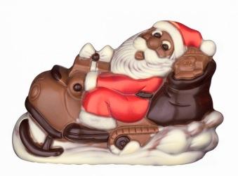 Chokladfigur - Tomten på Skoter -