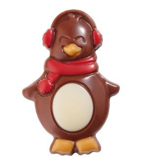 Chokladfigur - Pingvin Röd - Mjölkchoklad -