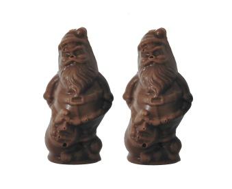 Chokladfigur - 2-pack Tomtar - Mörk Choklad -