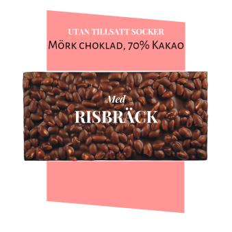 Pralinhuset - 70% Kakao - Risbräck - Utan Tillsatt Socker - Pralinhuset - 70% Kakao - Risbräck - Utan Tillsatt Socker