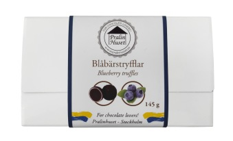 Pralinask - Blåbärstryfflar - 145 gram -