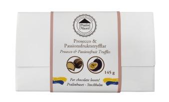 Pralinask - Prosecco & Passionfruktstryfflar - 145 gram -