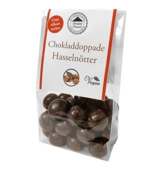 Pralinhuset – Chokladdoppade Hasselnötter - Utan Tillsatt Socker -