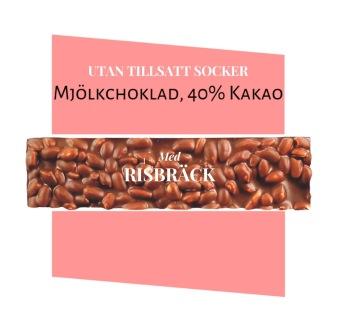 Pralinhuset - 40% Kakao - Risbräck - Utan Tillsatt Socker -