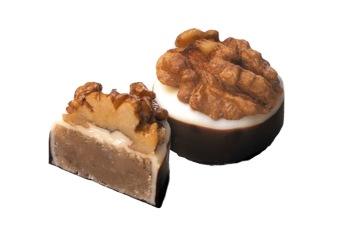Pralin & Tryffel - Valnöts Marsipan - Mörk Choklad