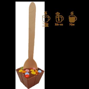 Pralinhuset - Drickchoklad - 40% Kakao - Fun Time -