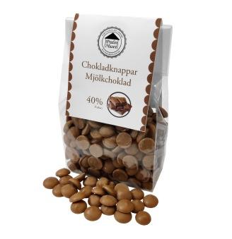 Pralinhuset - Chokladknappar - 40% Kakao - 150g -