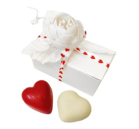 Pralinhuset - 2-Bits Ask - Två Hjärtan -