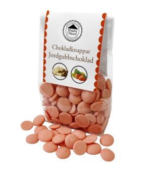 Pralinhuset - Chokladknappar - Jordgubbschoklad - 150g -