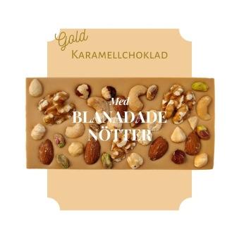 Pralinhuset - Karamellchoklad - Blandade Nötter -