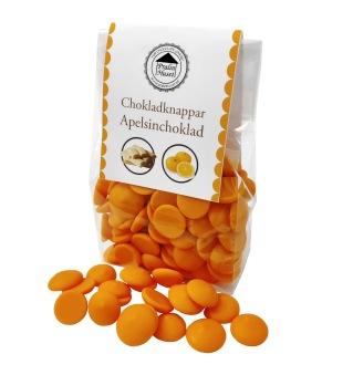 Pralinhuset - Chokladknappar - Apelsinchoklad - 150g -