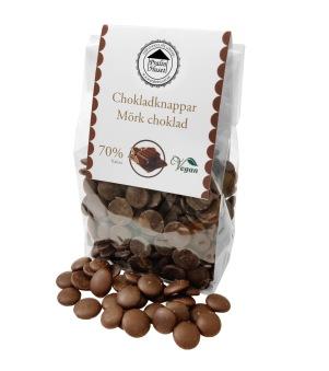 Pralinhuset - Chokladknappar - 70% Kakao - 150g -