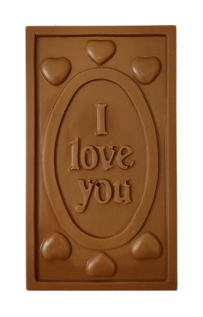 Pralinhuset - 40% Mjölkchoklad - I Love You -