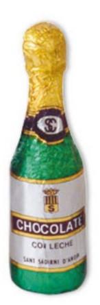 Champagneflaska - Ljus Choklad - 18 gram -