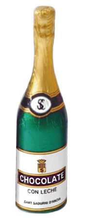 Champagneflaska - Ljus Choklad - 40 gram -