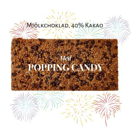 Pralinhuset - 40% Mjölkchoklad - Popping Candy -