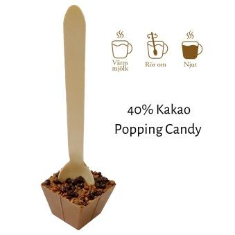 Pralinhuset - Drickchoklad - 40% Kakao - Popping Candy -