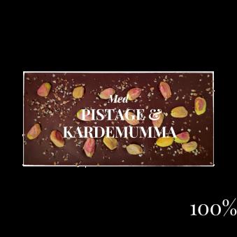 Pralinhuset - 100% Kakao - Pistage & Kardemumma -