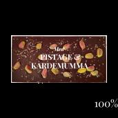 Pralinhuset - 100% Kakao - Pistage & Kardemumma