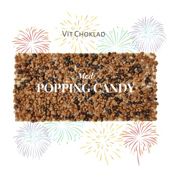 Pralinhuset - Vit Choklad - Popping Candy -
