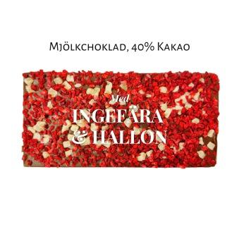 Pralinhuset - 40% Kakao - Hallon & Ingefära -