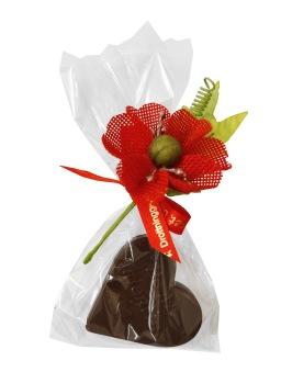 Pralinhuset - Hjärta i Mörk Choklad - 25 gram -