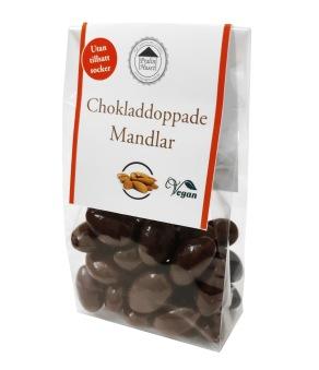 Pralinhuset - Mandlar Doppade i Mörk Choklad - Utan Tillsatt Socker -