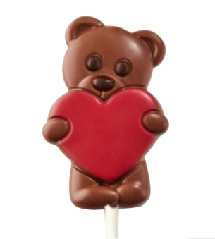Chokladklubba - Teddybear Röd- 30 gram -