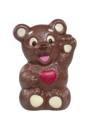 Chokladfigur - Hjärtbjörn - 90 gram